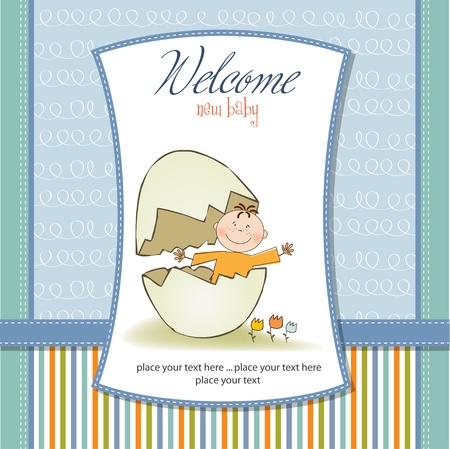 baby sitting: new baby announcement card