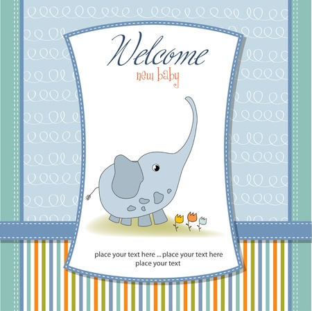 new baby announcement card Stock Vector - 11132195