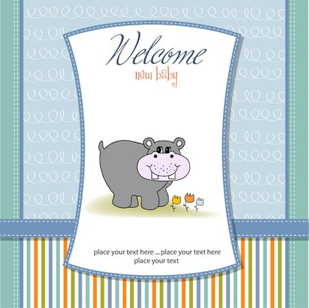 new baby announcement card Stock Vector - 11132193