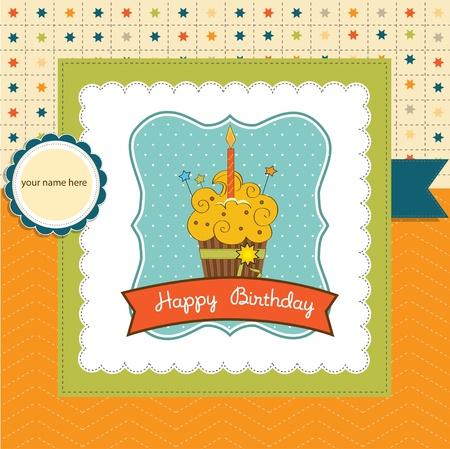 b day party: Happy Birthday cupcake