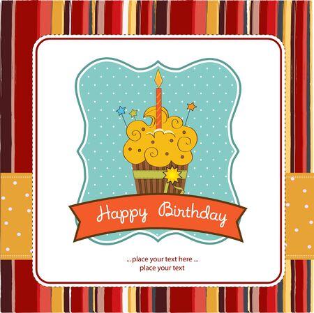 buttercream: Happy Birthday cupcake