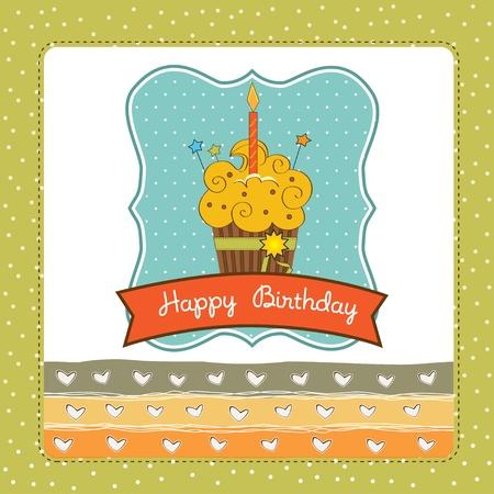 b day parties: Happy Birthday cupcake