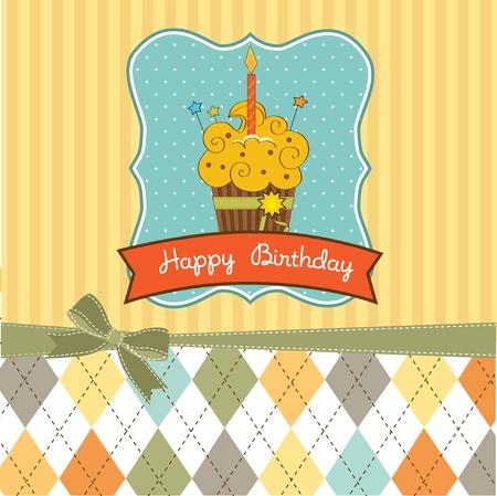 Joyeux anniversaire petit gâteau Vecteurs