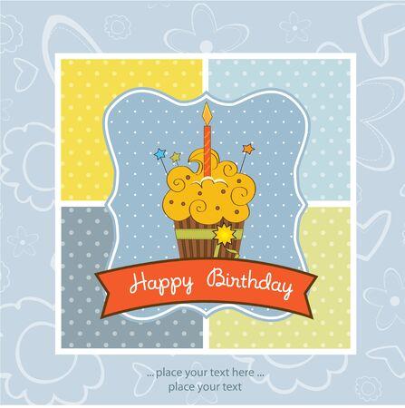 b day: Happy Birthday cupcake