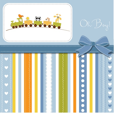 welcome baby boy Stock Vector - 11023179
