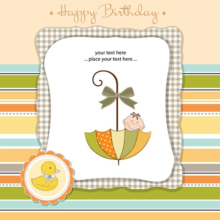 happy birthday card Stock Vector - 11023187