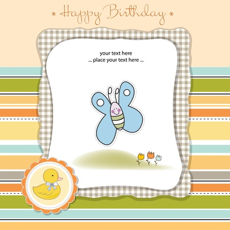 happy birthday card Stock Vector - 11023185
