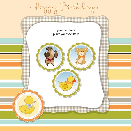 happy birthday card Stock Vector - 11023201