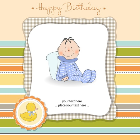 happy birthday card Stock Vector - 11023258