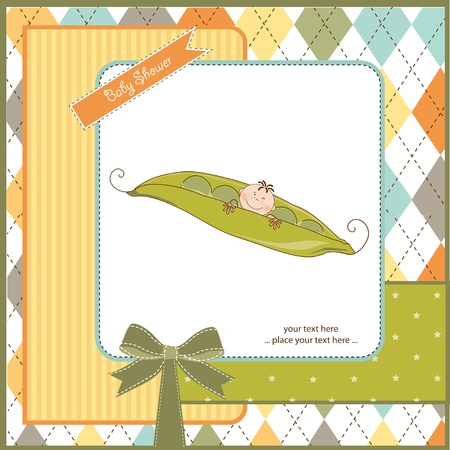 new baby announcement card Vector