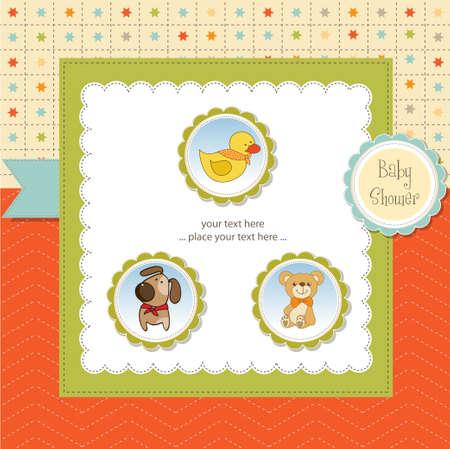 nice background: baby shower card Illustration