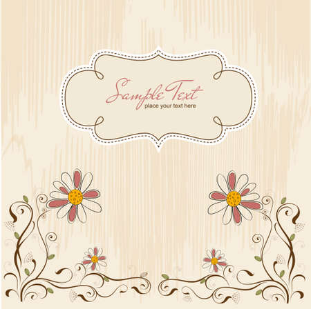 vintage vector floral background Vector