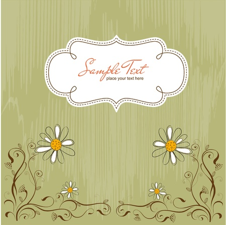 cute border: vintage vector floral background Illustration