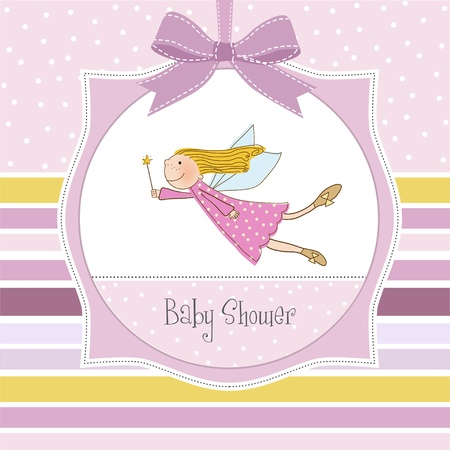 new baby shower card with fairy Stock Vector - 11007937