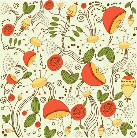 vintage vector flora background Vector