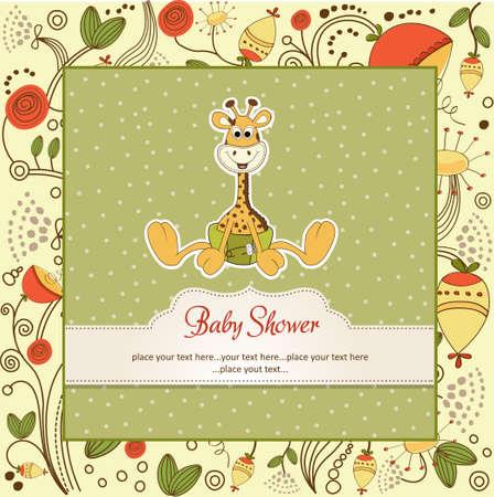 baby giraffe: new baby announcement with baby giraffe