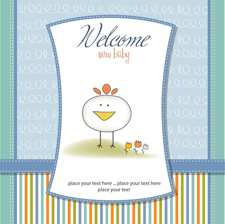 welcome new baby boy Stock Photo - 12670102