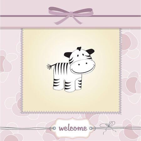 baby girl: delicate baby girl shower card  Illustration
