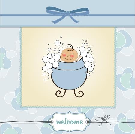 délicat carte de douche de bébé