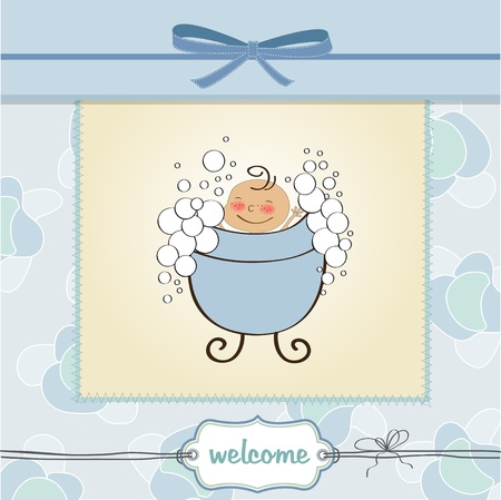 happy moment: delicate baby boy shower card