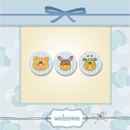 delicate baby boy shower card  Vector