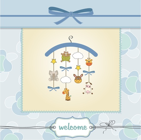 welcome baby announcement card  Vector