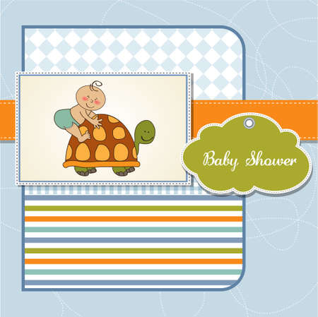 baby turtle: funny baby shower card