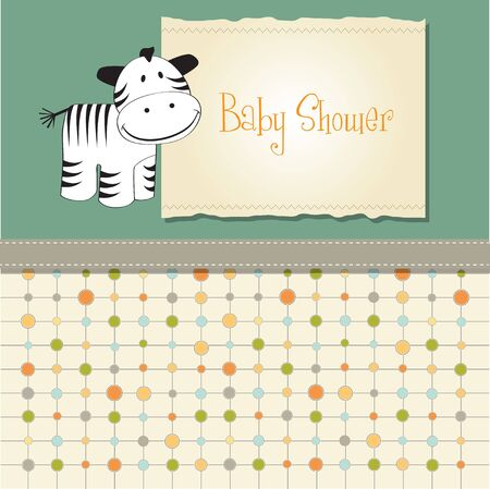 baby shower card with zebra Stock Vector - 11358213