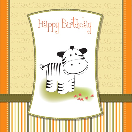little boys: baby shower card with zebra