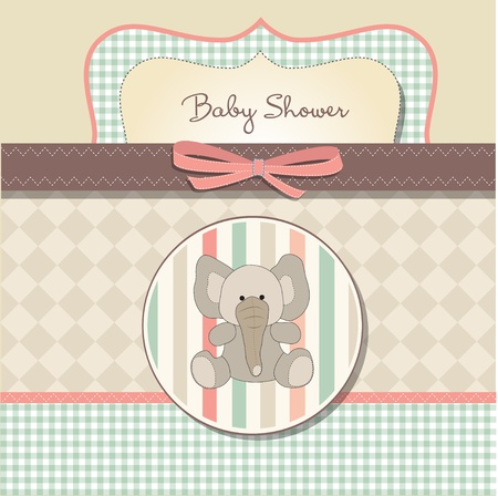 vintage baby: romantic baby shower card