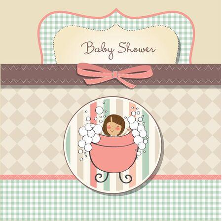 romantic baby shower card Stock Vector - 11358296
