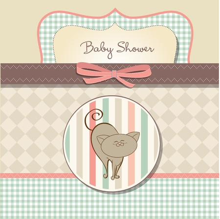 cute baby girls: romantic baby shower card