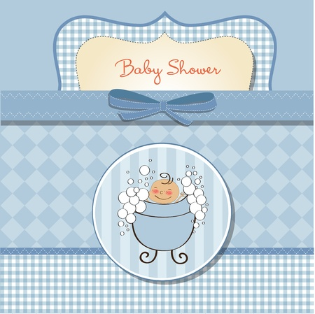 little girl bath: romantic baby shower card
