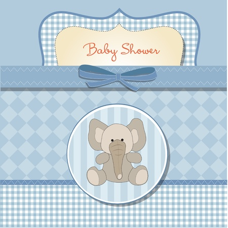 baby elephant: romantic baby shower card