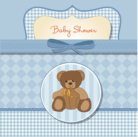 baby boy shower: romantic baby shower card