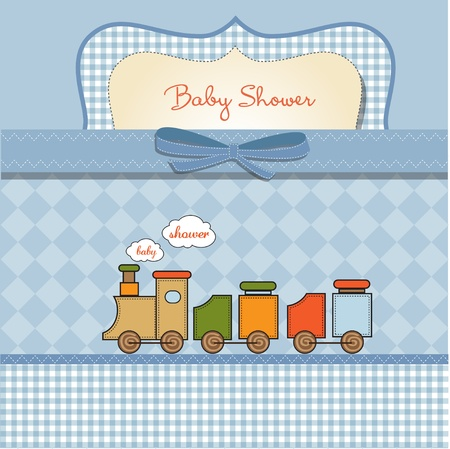 romantic baby shower card  Stock Vector - 11358279