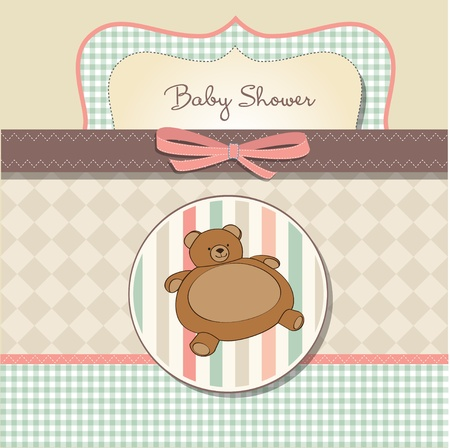 romantic baby shower card  Vector