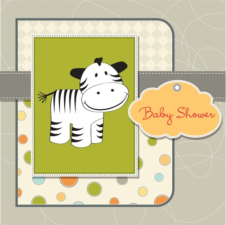 specifically: baby shower card with zebra