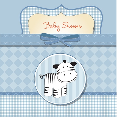 nestling: baby shower card with zebra