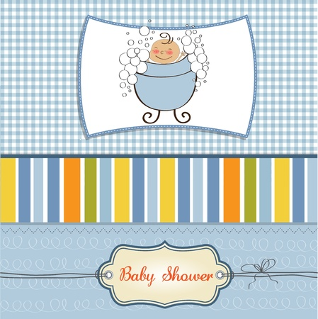 baby boy shower card  Stock Vector - 11358748