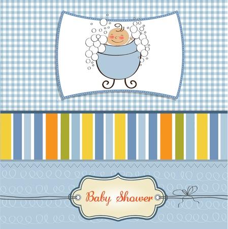 baby boy shower card Stock Vector - 11358748