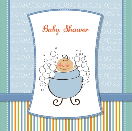 birthday greetings: baby boy shower card