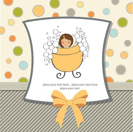 baby girl: baby girl shower card