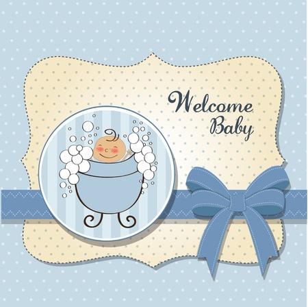 baby boy shower card Stock Vector - 11358736