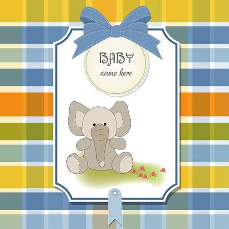 new baby card with elephant  Stock Vector - 11358580