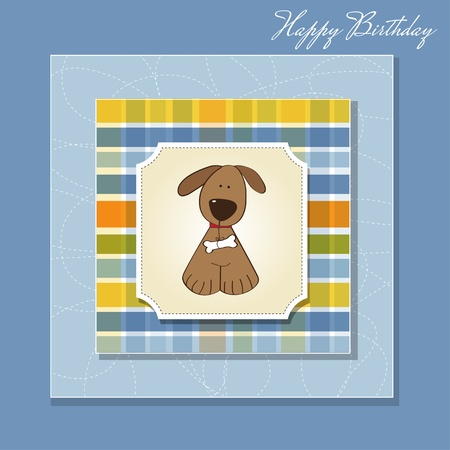 greeting card with dog  Vector