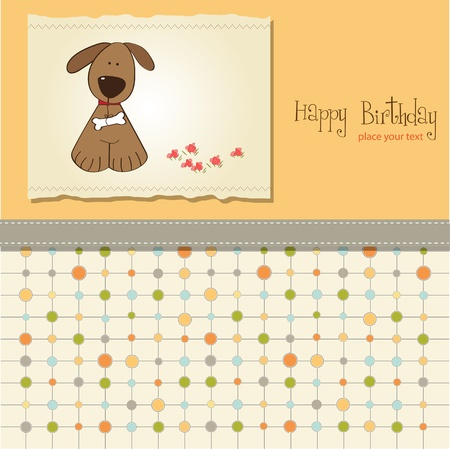 emotional love: greeting card with dog  Illustration