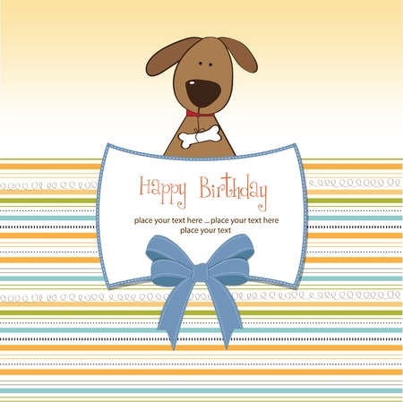 specifically: greeting card with dog  Illustration