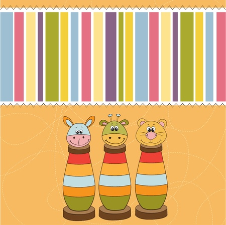 special event: baby shower card with toys