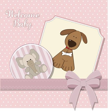 moments: baby girl announcement card